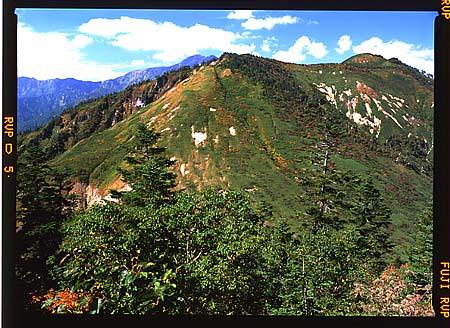 三方崩山から奧三方岳と白山