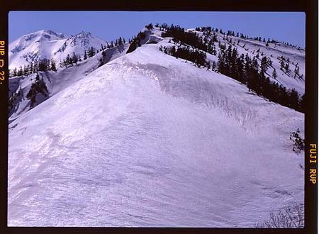 三方崩山から白山