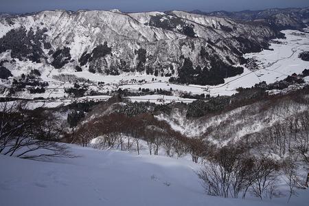 高倉山中腹から見下ろす
