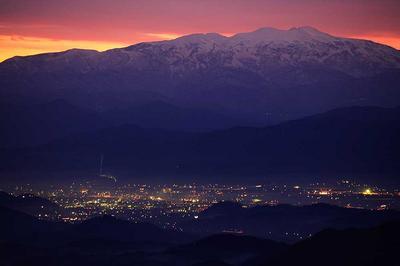 花立峠から夜明け前