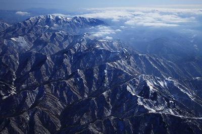 金草岳北の上空から能郷白山