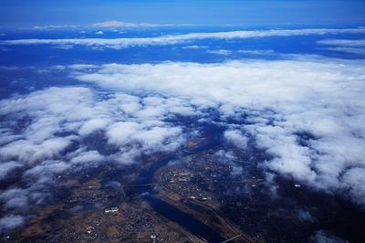 揖斐川上空から白山