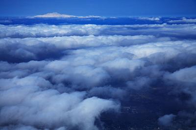 岐阜市上空から白山