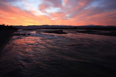 辰口大橋下流部から手取川の流れと白山1