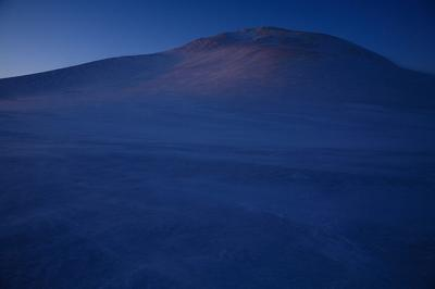 日没直前の御前峰