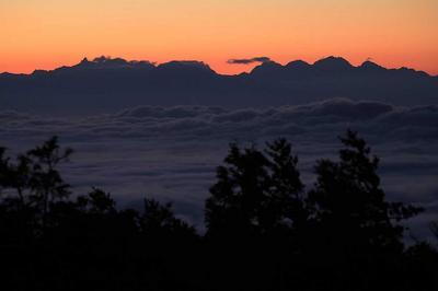 三方岩岳から槍穂高連峰