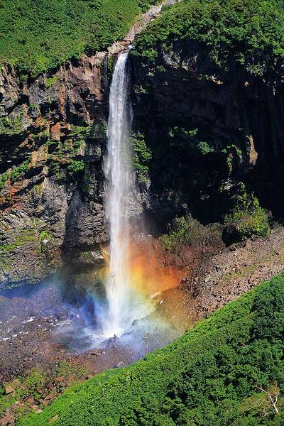 百四丈滝に虹が出ました
