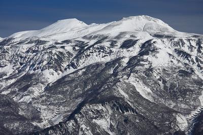 赤兎山の小屋付近からの白山