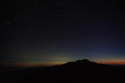 別山から見た白山と星空