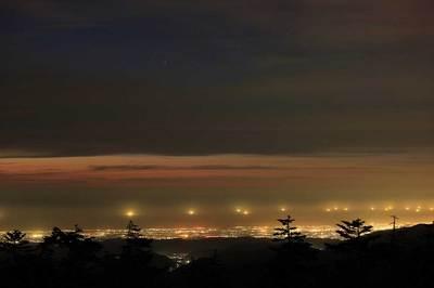 加賀平野と日本海の明かり