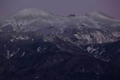 小焼け前の白山