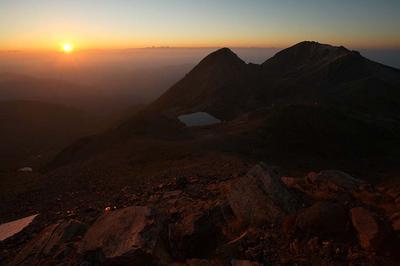 大汝峰からの日の出