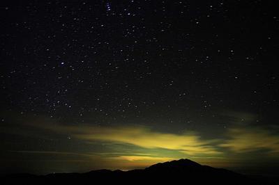 エコーラインから別山と星空