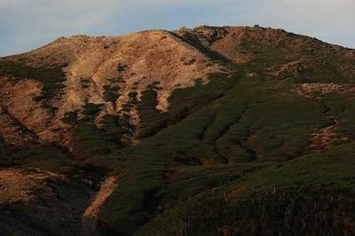 弥陀ヶ原から見た御前峰の夕景