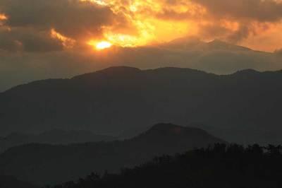 生雲から白山を見る