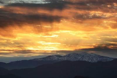 生雲から白山を見る<br />