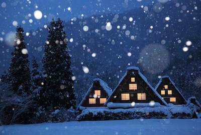 白川郷の雪