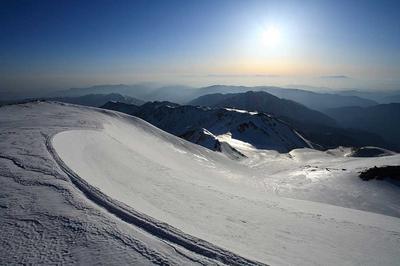 大汝峰から朝の太陽