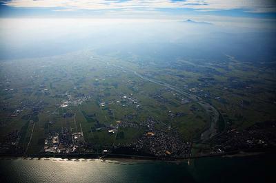 日本海と白山