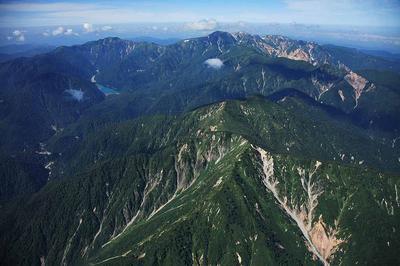 庄川上空から白山