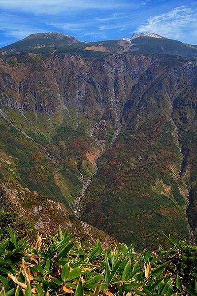 釈迦岳前峰から見た白山