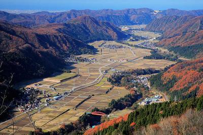 高倉山から手取川中流部を俯瞰