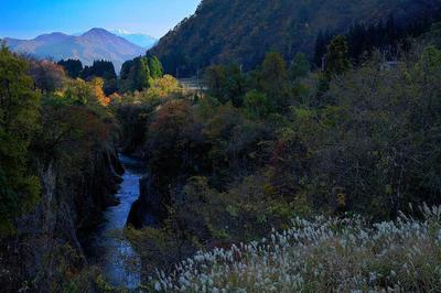 釜清水付近から手取川