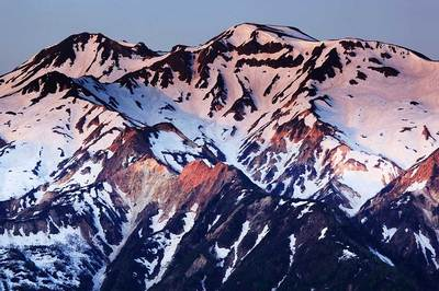 中宮道から見た白山