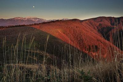 白山から上る月