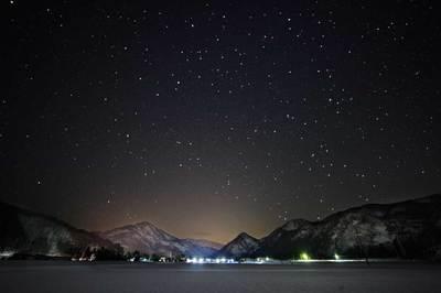白山市西佐良の夜景
